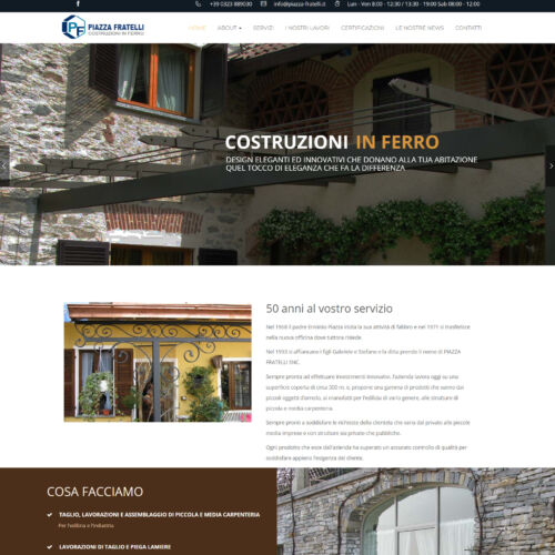 Piazza Fratelli – Costruzioni in ferro
